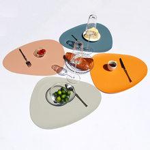2/3/4 pces do lugar esteira dos utensílios de mesa almofada placemat esteira de mesa de isolamento térmico couro do plutônio placemats tigela coaster cozinha antiderrapante
