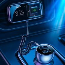Transmitter Bluetooth Modulator Usb-Car-Charger Audio Fm-Radio Handsfree Aux Baseus Fm