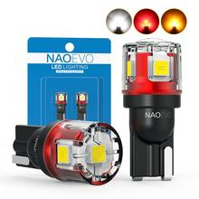 NAO W5W T10 LED CANBUS No Error 5W5 12V 24V 5W 750Lm Super Bright Car Interior Side Light 194 3030 SMD Auto Bulb White Amber Red