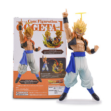 21cm Anime Dragon Ball Z Super Saiyan Gogeta Figure Vegeta Son Goku Fusion Angel Aura PVC Action Figure Cartoon DBZ Model Toy цена 2017