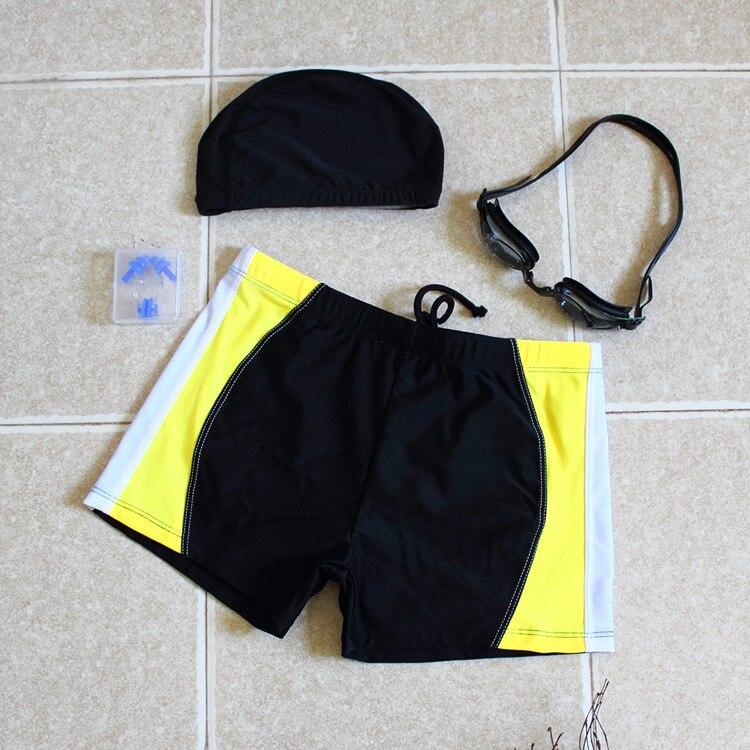 Men's Tour Bathing Suit Fashion Sexy Boxer MEN'S Swimsuit Swimming Trunks Swimming Cap Swimming Suit Men'S Wear Equipment Hot Sp