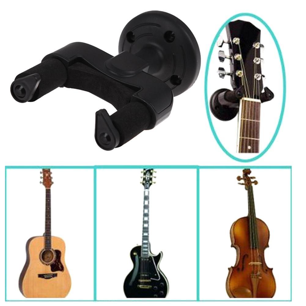 Guitarra gancho gancho suporte de montagem na parede para guitarra elétrica acústica clássica baixo ukulele banjo violino mandolin-1