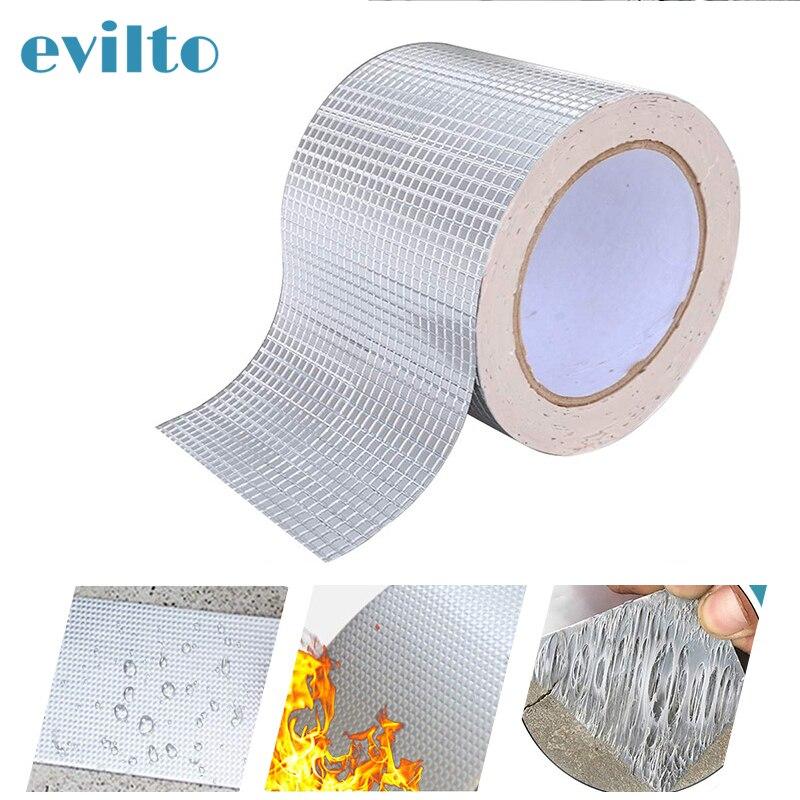 Waterproof Tape Aluminum Foil Supper Fix Duct Tape Self Adhesive Stop Leak Seal Repair Tape Crack Thicken Tape