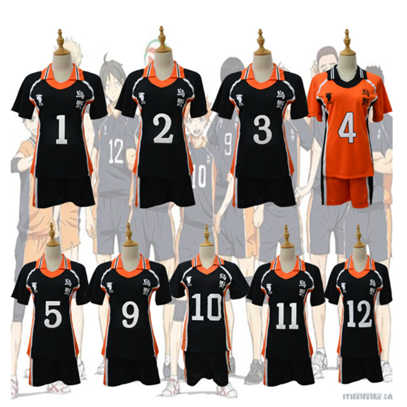 Anime Haikyuu Cosplay Costume Karasuno High School Volleyball Club Hinata Shyouyou Sportswear Jerseys Uniform