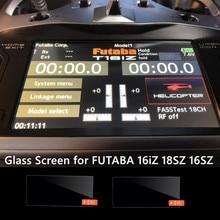 Стеклянный экран для FUTABA 16iz T16iZ 18SZ 16SZ, радиус, закаленное стекло, защита экрана, пульт дистанционного управления, передатчик, чехол, радиоупр...