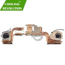New Genuine For MSI GE72VR Cooling Fan Heatsink E322500143A8700G52001404 PAAD06015SL N366  PAAD06015SL N372
