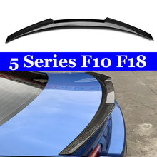 цена на M4 Style For BMW F10 F18 Carbon Spoiler 2010 - 2016 F10 M5 Spoilers Carbon Fiber Rear Trunk Car Styling