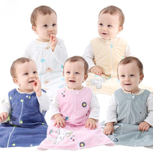 Осень-зима спальный мешок для малышей без рукавов детский спальный мешок 5 цветов из хлопка со спальным мешком для ребенка