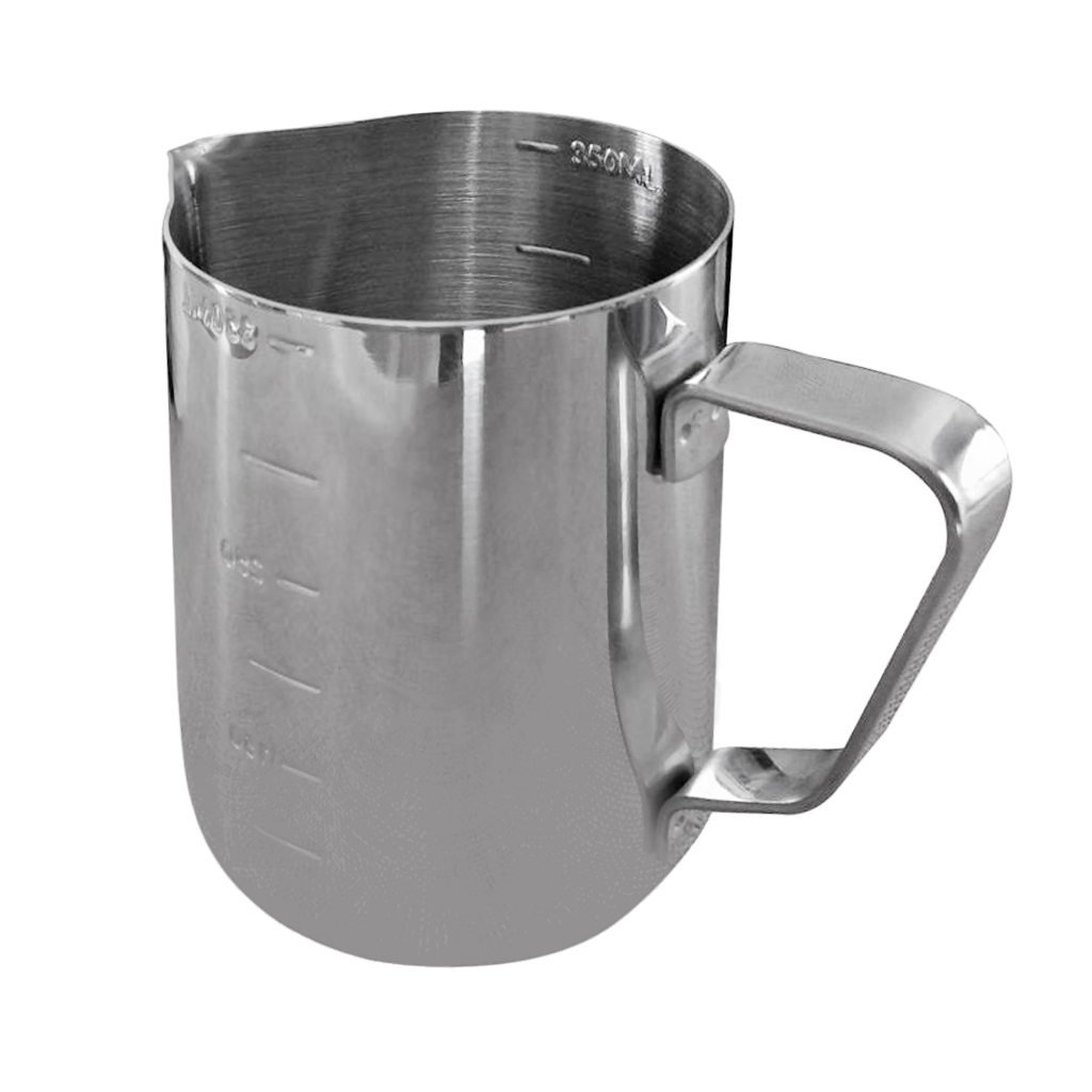 350ml Stainless Steel Milk Pitcher Frothing Jug Measuring Cup with Internal Markings