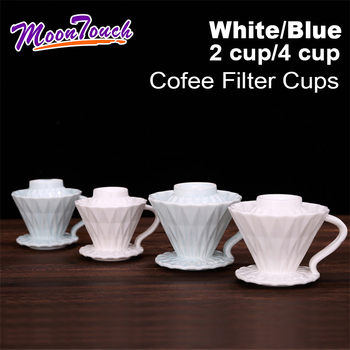 Ceramic Coffee Cup Espresso Coffee Cup Origami Filter Cups V60 Funnel Drip Hand Cup Filters Coffee Accessories For Competition