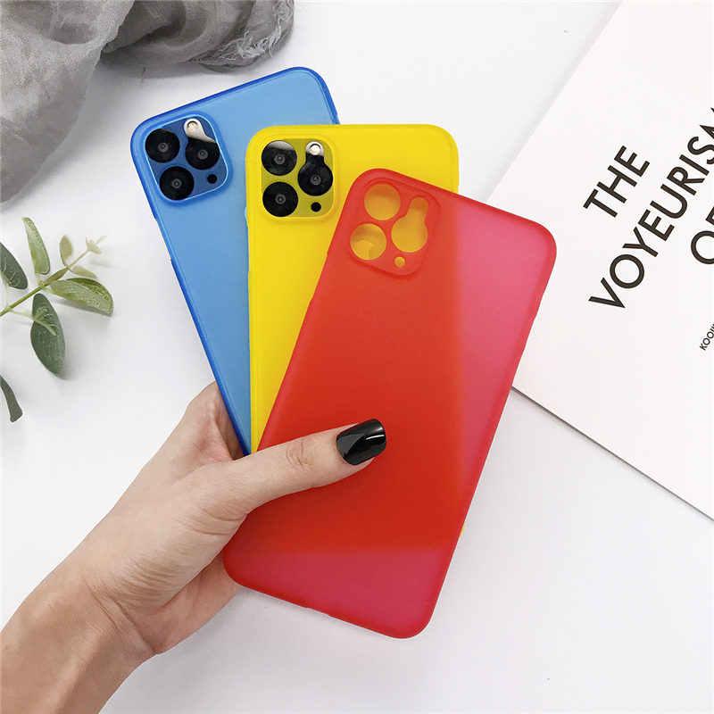 Lovebay رقيقة جدا الهاتف حقيبة لهاتف أي فون 11 11 برو ماكس 7 8 6 6s زائد X XR XS ماكس كاندي صدمات سليم ماتي الصلب PC الغطاء الخلفي