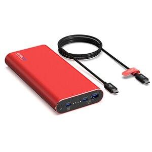 Powerbank 20 v 2.25a 3.25a 45 w 65 w pd + qc com usb tipo-c entrada/saída e saída qc para xiaomi ar huawei usb tipo-c laptops