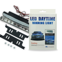4PCS/Set Car Day Light 8 LED DRL Car Auto 3W Bulb Source Fog Driving Daylight Daytime Running LED White Head Lamp