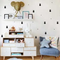 Pet Bunny Wall Sticker DIY Cartoon Rabbit Wall Decals for Nusery Kids Room Decoration bedroom living room mural