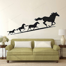running horse wall sticker vinyl home decoration horse wall decal for bedroom removable art mural JH218 cartoon chemist man wall sticker decal chemist sticker home bedroom decoration a00353