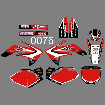 For HONDA CRF150R 2007-2018 Graphics Decals Stickers Custom Number Name 3M Full  Motorcycle Backgrounds Stickers Accessories