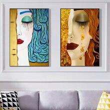 От gustav klimt kiss tear холст постер искусство известные картины