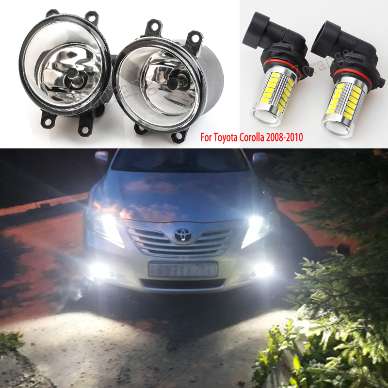Fog Lights For Toyota Corolla Ractis <font><b>Camry</b></font> 2003-2014 LED Halogen Fog Lamps Fog Light for Avensis Verso RAV 4 fog lamp foglights image