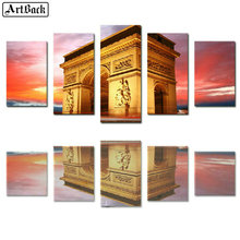 Full square diy 5d diamond painting Arc de Triomphe French scenery mosaic crafts embroidery sticker