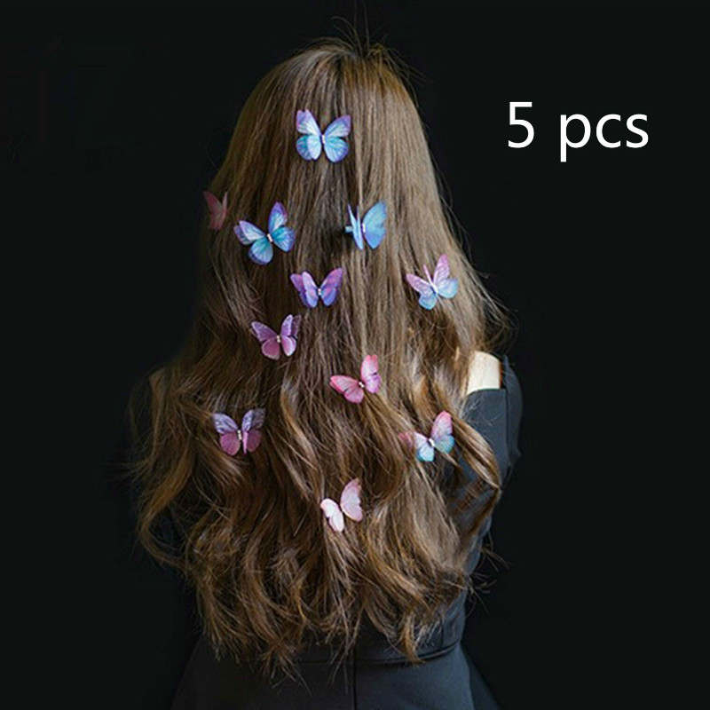 Butterfly Patterned  Hair Clips Bridal Hair Accessories Wedding Photography Costume Accessories  Tiara  Jewelry Jewelry Wedding