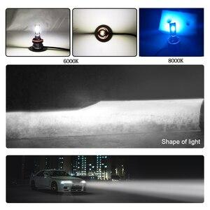 Image 4 - LSlight bombilla de faro LED para coche, 12v, 55W, 9005 k, 9006 k, ampolla Turbo, H7 H4 H11 H1 H9 9012 6000 HB2 HB3 HB4 8000