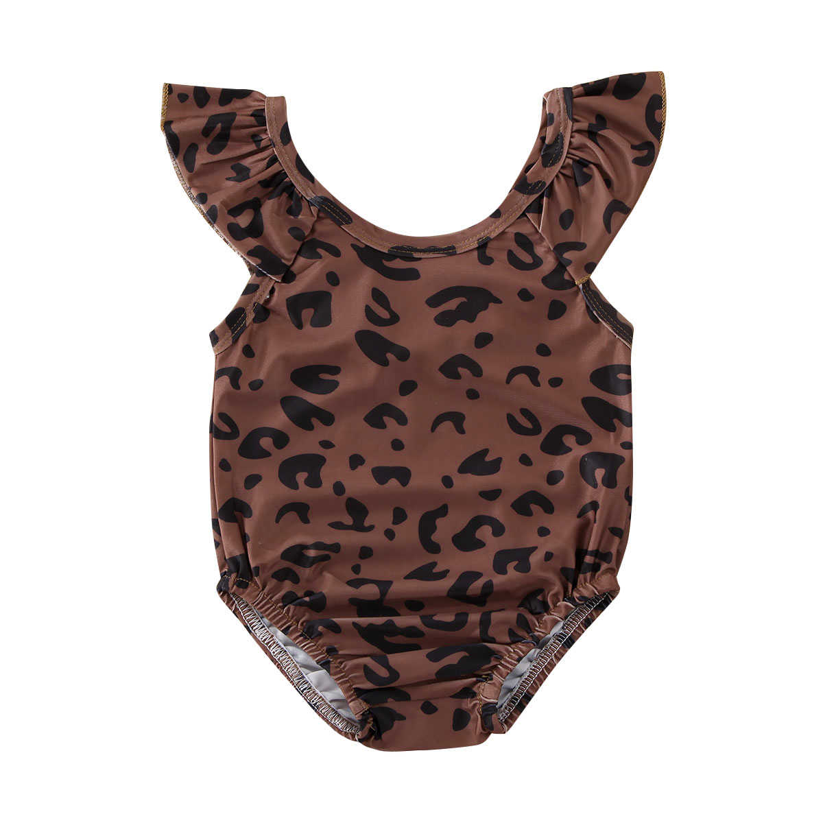2020 Summer Swimsuit Kids Baby Girl Leopard print Swimming Costume One Piece Swimwear Outfits