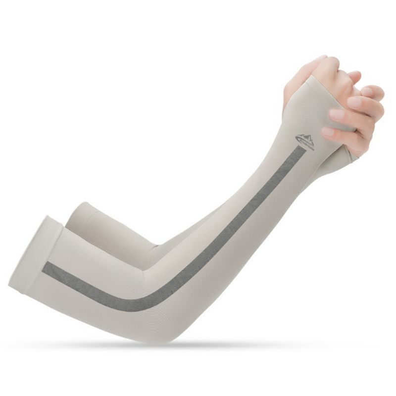 Unisex UV Sun Protection Ice Silk Cooling Arm Sleeves UPF 50 Seamless Compression Cover Shield For Sport Driving Cycling
