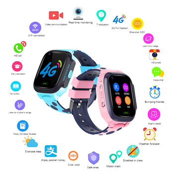 df39 kids gps tracker watch 4g smart watches gps lbs wifi location sos call 1 44 camera children tracking clock pk df25g df33 Y95 4G Kids Smart Watch Waterproof Gps Locator For Children WIFI LBS Tracker SOS Video Call Fitness Smart Bracelet For Android
