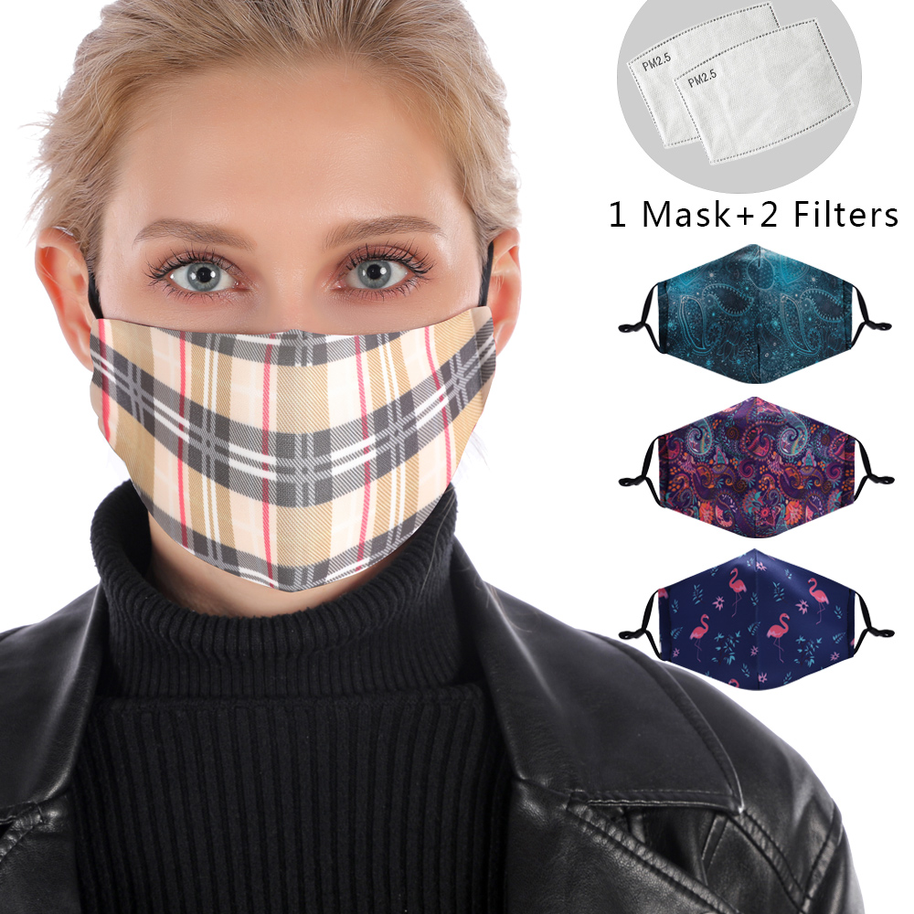 Reusable Mouth Mask Washable British Protective PM2.5 Filter Mask Anti Dust Face Mask Windproof Mouth-muffle Anti Flu Mask
