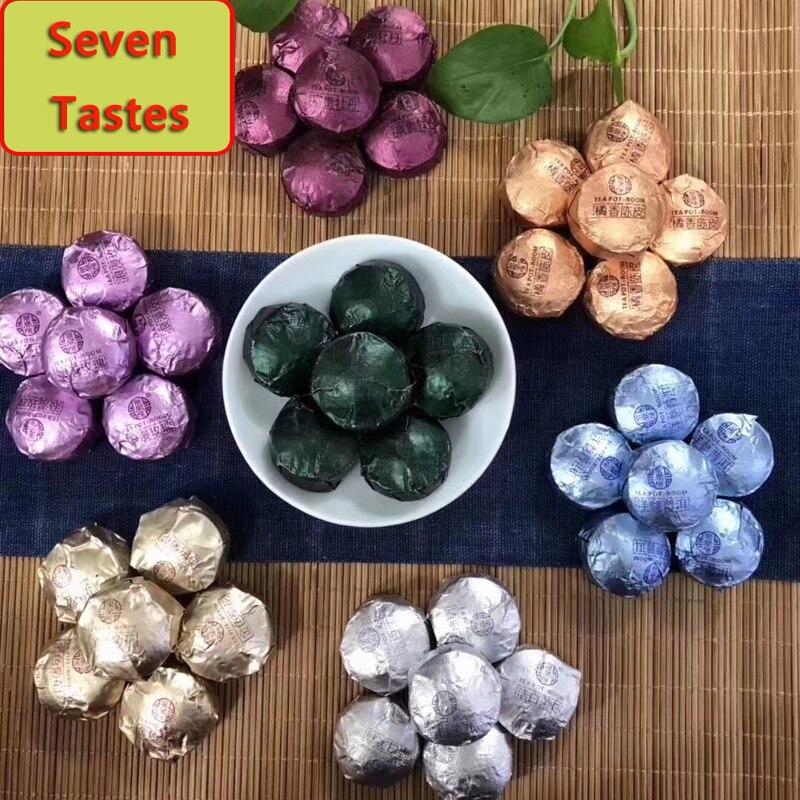 Pu'er Tea Flower Tea Yunnan Menghai Mini Pu'er Xiaotuo Tea With 7 Tastes Of 250 G