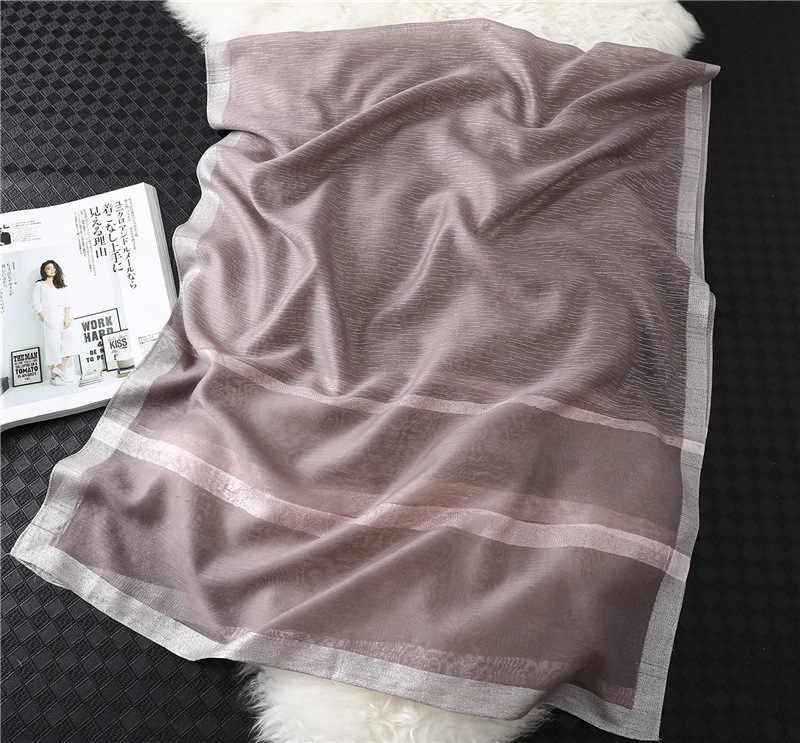 2020 Donne di Modo di Inverno Sciarpa di Pashmina Scialli Lamina D'oro Di Seta Lucido di Scintillio Della Signora Calda Lana Sciarpe Hijab Foulard Fascia per la Testa