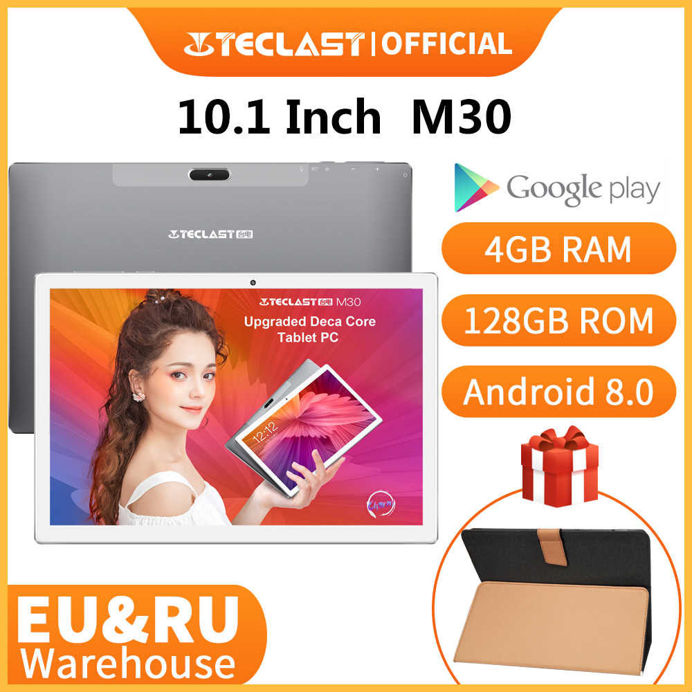 Nieuwste Teclast M30 10.1 Inch Tablet MT6797 X27 Deca Core 2560X1600 2.5K Ips Screen Dual 4G 4 Gb Ram 128 Gb Rom Android Tablet Pc