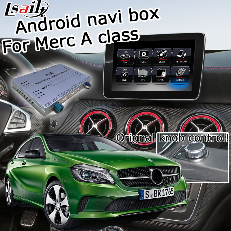 Android GPS <font><b>navigation</b></font> system video interface for <font><b>Mercedes</b></font> benz A class <font><b>W176</b></font> NTG 5.0 Audio20 COMMAND video interface box carplay image