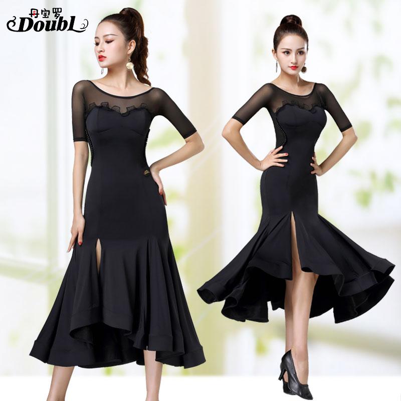 DOUBL New Modern Dresses Dress Backless Social Ballroom Waltz Dance Skirt Dancing Costume Performance Competition Tango Wear