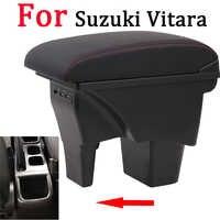 Para caja de reposabrazos Suzuki Vitara universal car center console caja accesorios de modificación doble elevado con USB