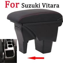 עבור סוזוקי Vitara משענת תיבת אוניברסלי רכב מרכז קונסולת caja שינוי אבזרים זוגי העלה עם USB