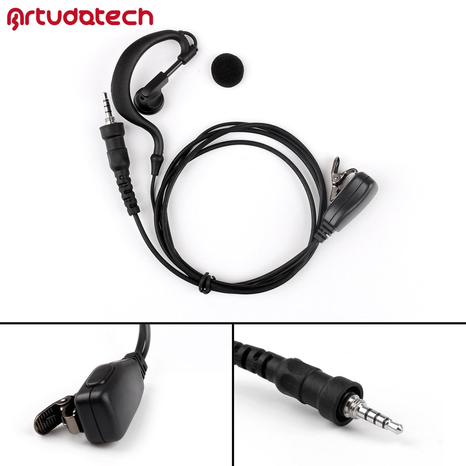 Artudatech Earpiece Headset Two Way PTT For YEASU Vertex VX-6R VX-7R VX-6E VX-7E VX-6 VX-7 Walkie Talkie Radio