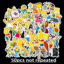 50pcs Funny Anime Cartoon Simpsons Graffiti Stickers For Car Moto & Suitcase Cool Laptop Stickers Skateboard Kids Stickers