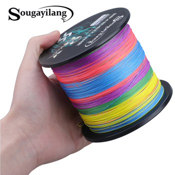 Sougayilang 8x+x 9 Strands Braided PE Fishing Line 300M 500M 1000M Strong Fishing Line Multifilament Durable Fishing Line Pesca meredith 4 strands braided pe fishing line 300m 500m 1000m 15 80lb multifilament smooth fishing line for fishing lure bait