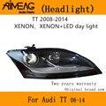 Сделано для 08-14 Audi TT налобный фонарь в сборе оригинальный завод грыжа день светильник светодиодный оригинальный высокий соответствующий го...