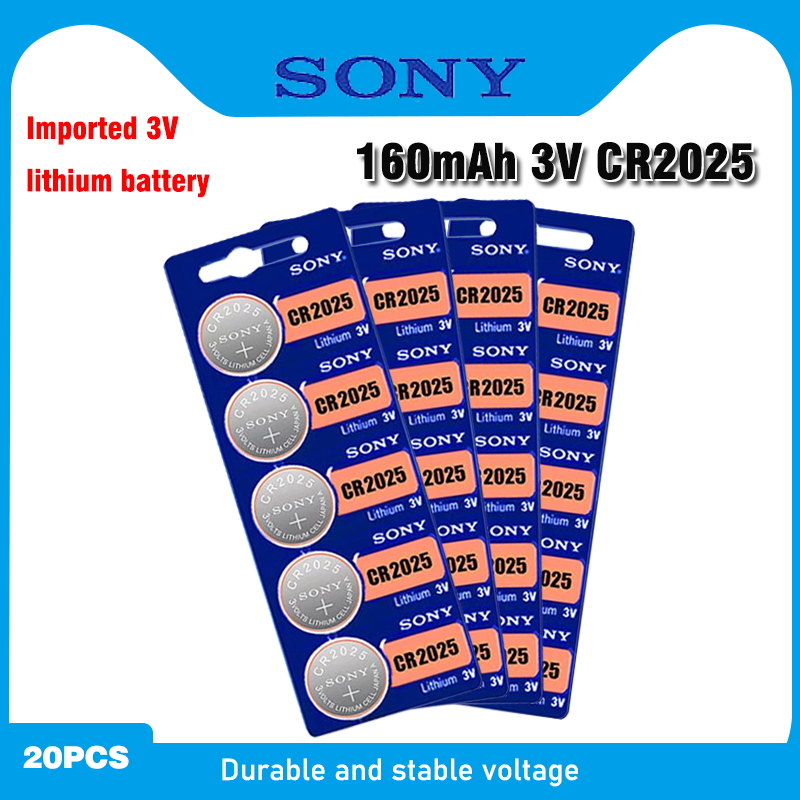 20PCS FOR SONY Original <font><b>cr2025</b></font> Button Cell <font><b>Batteries</b></font> cr 2025 DL2025 LM2025 3V Lithium Coin <font><b>Battery</b></font> For Watch Weight Scale image