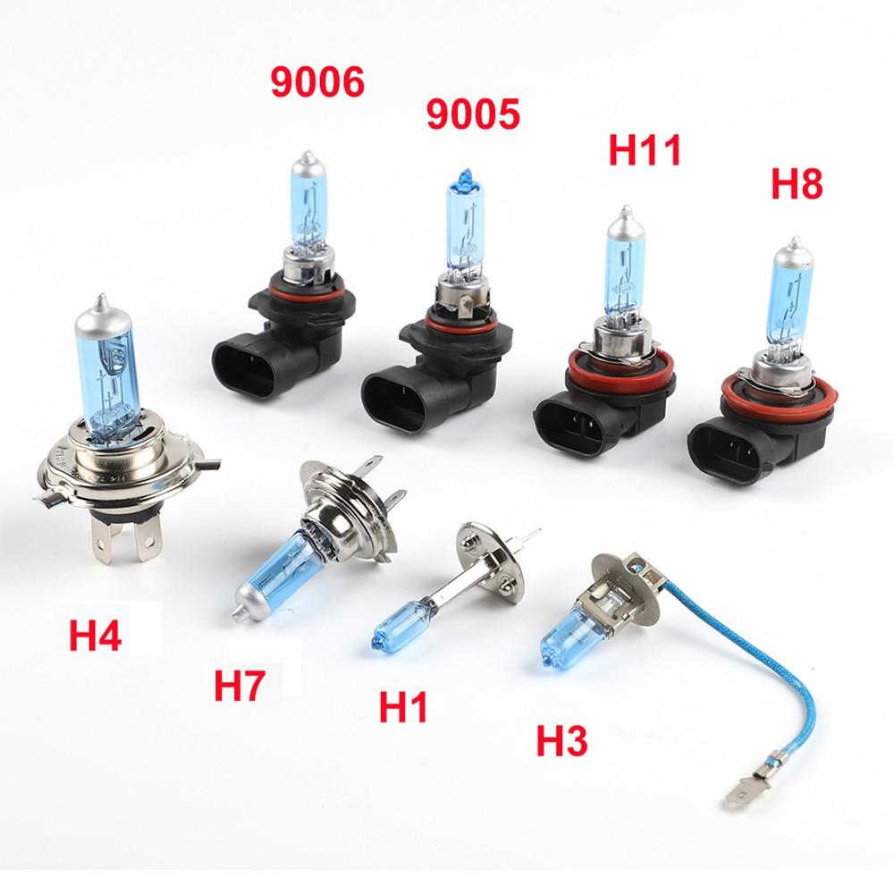 1PC Halogen Bulb H1 H3 H4 H7 H8 H9 H11 9005 HB3 9006 HB4 12V 55W 5000K Quartz Glass Car Headlight Lamp