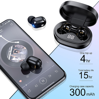 PJD A6S Plus TWS Wireless Bluetooth Headsets Earphones Stereo Headphones Sport Noise Cancelling Mini Earbuds for All Smart Phone 2