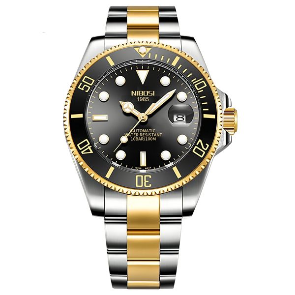 NIBOSI Mechanical Watch Men 10Bar Automatic Luxury Men Watch Sport Wristwatch Two-Tone Reloj Hombre Tourbillon Relogio Masculino 9