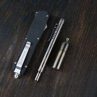Тактическая ручка из титанового сплава Slfe Defense Вольфрамовая стальная головка стеклянный выключатель металлическая ручка наружное аварийн...