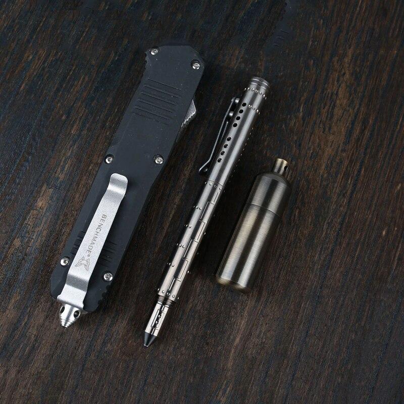 Titanium Alloy Tactical Pen Slfe Defense Tungsten Steel Head Glass Breaker Metal Pen Outdoor Emergency Window Broken EDC Tool