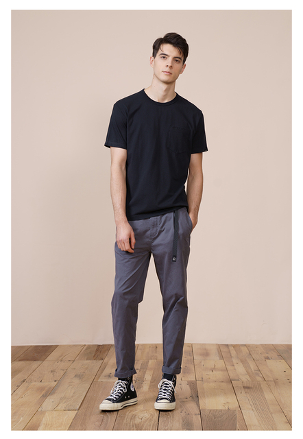 Summer T-Shirt in Solid Color with chest pocket
