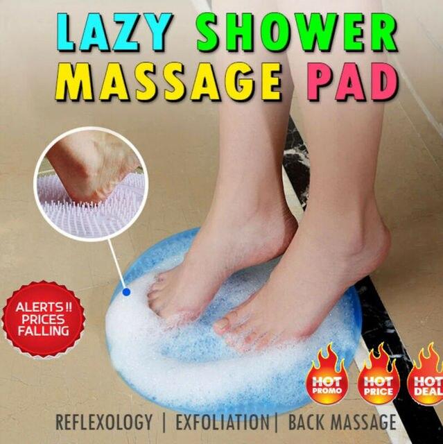 Hot Lazy Bath Massage Pad 1PCs Silicone Suction Cup Bathroom Massage Soft Shower Mat Non-slip Bath Mats 1