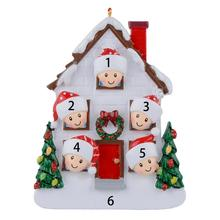 Maxora Resin Gloss Christmas House of 5 Personalized Tree Ornaments