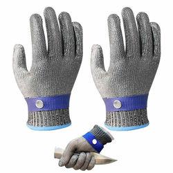 Nowy 1 para/2 sztuk odporne na cięcie odporne na cięcie ze stali nierdzewnej rękawice robocze rękawice ochronne z metalowej siatki anty cięcia dla rzeźnika pracownika